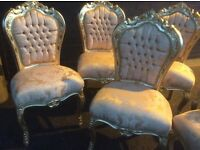 1x gold French style chair