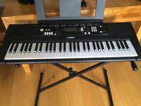 Yamaha EZ-220 digital keyboard with stand and box