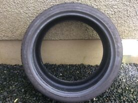 Car tyre as new 215/40/18