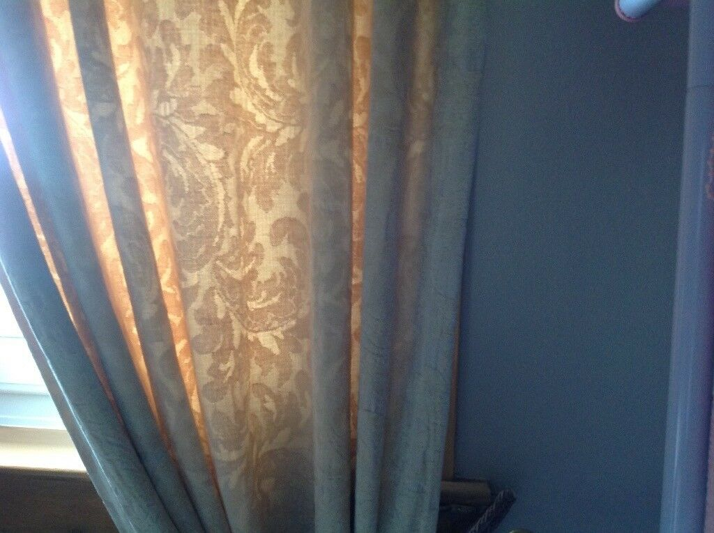 Heavy lined damask curtains ,,free