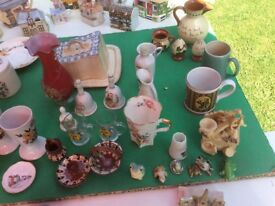 COLLECTION OF GLASSWARE AND CHINA