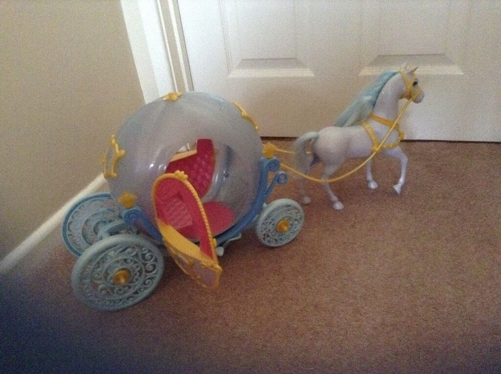 Barbie size Cinderella carriage and horse | in Sutton ...