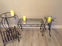 Coffee table/lamp table/candle display stand/magazine wrack suitable for lounge/conservatory.