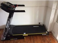 Reebok One GT30 Treadmill with power recline, hydraulic fold and speakers. Hardly used, almost new