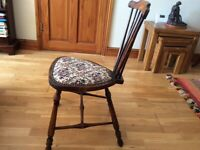 ANTIQUE OAK CHAIR 19TH CENTURY SPINDLE BACK