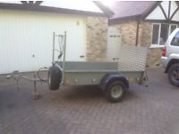 Ifor Williams P6E 6 x4 trailer with ladder rack and loading ramp