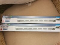 2 X LED Light Strips for kitchen work tops, cupboards, shelves.
