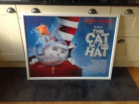 Stunning Huge Framed Cinema poster The Cat in the Hat