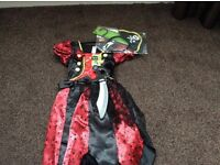 Aged 3 to 4 years brand new Halloween girls pirate dress up