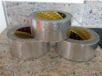 THREE ROLLS OF 'SCOTCH' SILVER PRESSURE SENSITIVE INSULATION TAPE