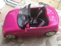 Genuine Mattel Barbie car. One careful owner! Immaculate. Mirrors, seat belts, stickers intact.