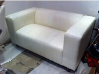 FREE Ivory/Off-white leather sofa (2 seater)