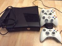 Xbox 360 bundle including 9 games,3 controllers