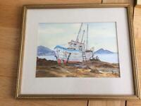 Original Watercolour of a Fishing Boat