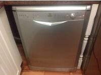Indeset dishwasher model idl735 silver not very old working but has fault see full details