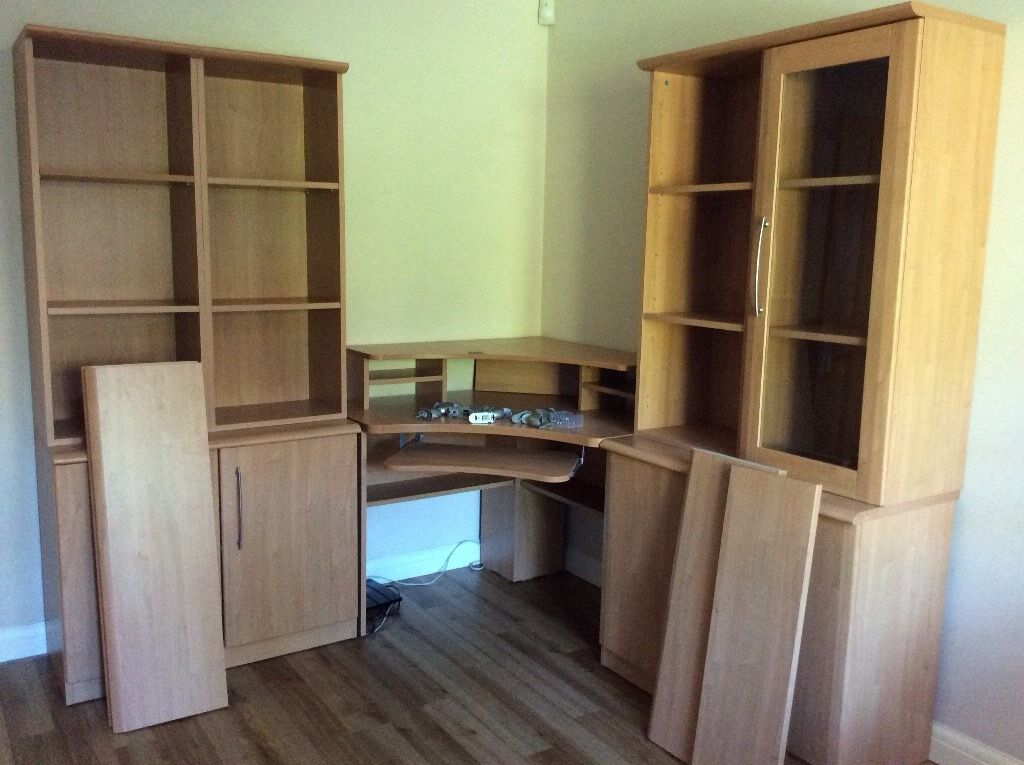 Office Furniture From Mfi In Beech Wood