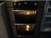 Stainless steel double oven,890 x 600mm,£75.00