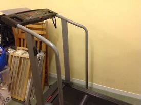 Treadmill, exercise bike and step machine