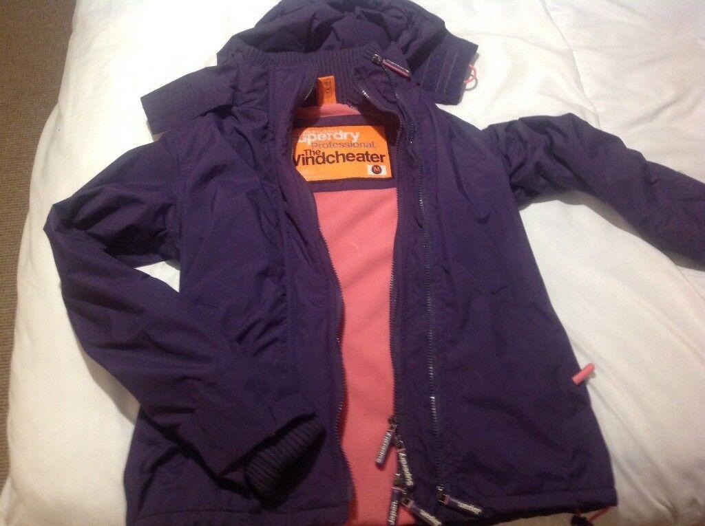 SUPERDRY ladies plum windcheater jacket medium
