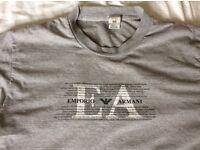 Armani t shirt men's grey large