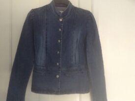Denim jacket,,lovely detail size 10