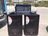 Wharfedale Pro EVP-X15 600w speakers and Yamaha EMX66m Powered mixer