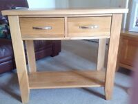 Console table (solid oak)