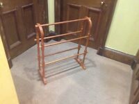Towel rail in Pine in new condition.