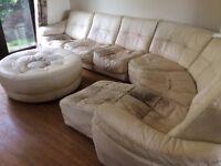 Large Modular Sofa + Armchair + Footstool - FREE