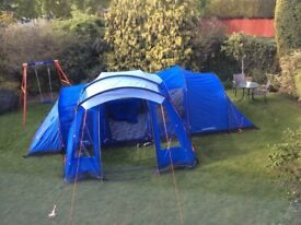 Vango Hampton 600 with Large Side Extention and Carpet