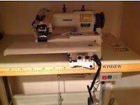 Industrial sewing machine blind hemmer