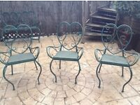 Extremely heavy French style metal patio chairs