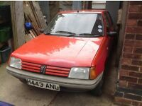 Peugeot 205 1990 1.1 project restoration spares repair running engine, no welding on bodywork