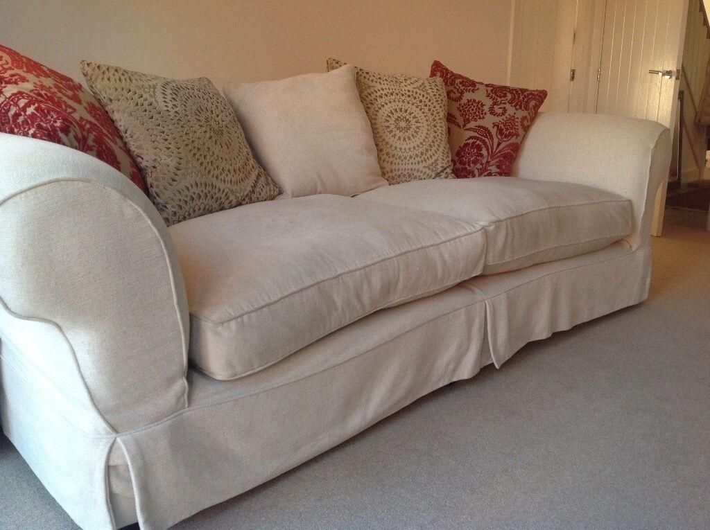 sofa workshop caravaggio large sofa and snuggler cream brushed cotton plus cushions in bath. Black Bedroom Furniture Sets. Home Design Ideas