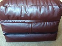 Brown Faux Leather Futon Bean Bag, single, very good condition (as new) - £40 ono