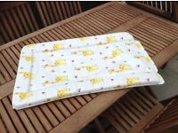 Colourful baby changing mat