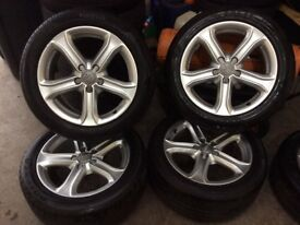 "17"" alloys a4 genuine"