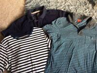 Bundle of men's polo shirts Hugo boss, crew, white stuff