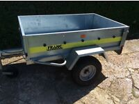 Franc Trailer 156 x 100 x 38 cm With Flat & Raised Covers, Spare Wheel, Full Electrical System