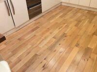 Solid oak wooden flooring