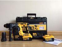 Brand New Dewalt DCH274P2 18V XR li-ion SDS+ Rotary Hammer Drill +2 x 5AH Batteries, charger