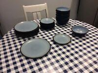 Denby blue tableware