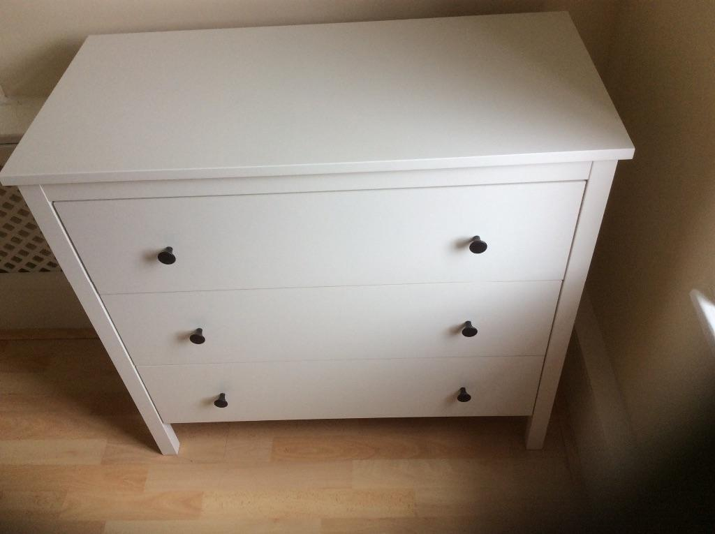 Ikea koppang white chest of drawers 90x82cm in st johns for Ikea chest freezer