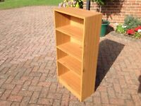 Bookcase with adjustable shelving. Sturdy. From clean, smoke free home.