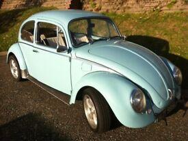Classic 1973 Volkswagen Beetle Blue
