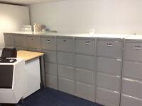 4 Draw Grey Filing Cabinets