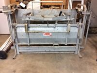 Ritchie sheep turnover crate used twice ,also calf head lock gate.