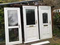 Range of Upvc doors with frames like new could deliver