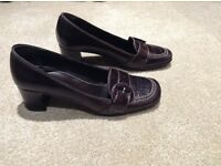 Ladies Brown Leather Court Shoes-Size 4 (EUR 37)-Next