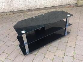Black glass television cabinet